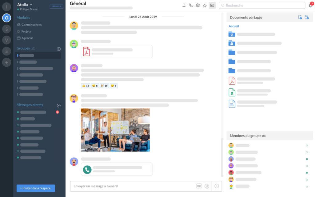 Atolia, outil collaboratif de gestion de projet